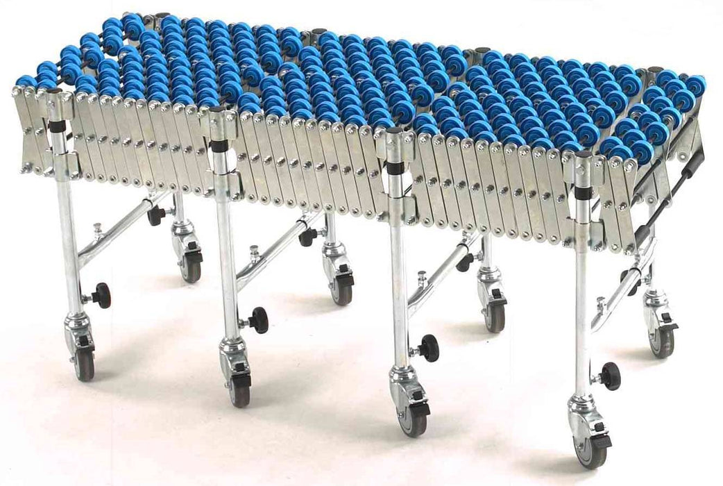 Heavy Duty Flexible Expanding PVC Skate Wheel Conveyor