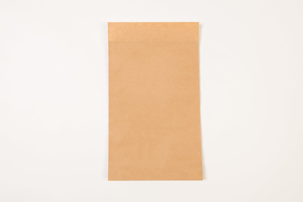 ECO Paper Mailing Bag with SGL Peel, 325 x 100 x 500mm + 30mm lip, 100gsm