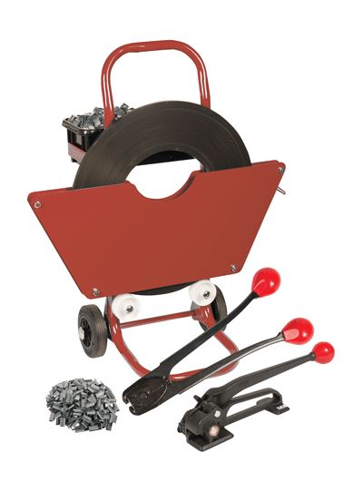 Steel Banding Kit - 16mm Strapping With Tensioner and Sealer