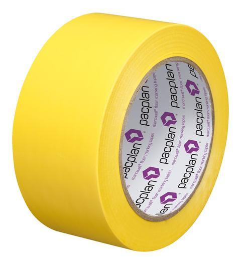 Yellow Social Distance Floor Marking Tape 50 mm Wide