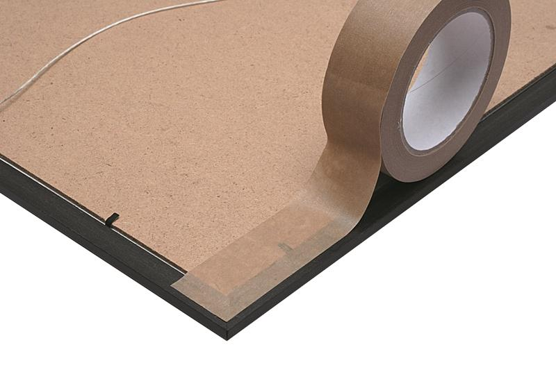 75mm x 50m Self Adhesive Kraft Paper Tape 12 Rolls