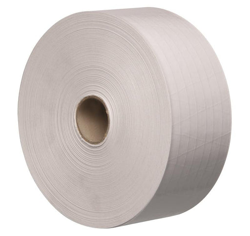 6 x 70mm x 150m Tegrabond White Oyster Reinforced Gummed Paper Tape 125 GSM