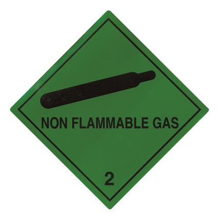 Non Flammable Gas Hazard Warning 100 mm x 100 mm