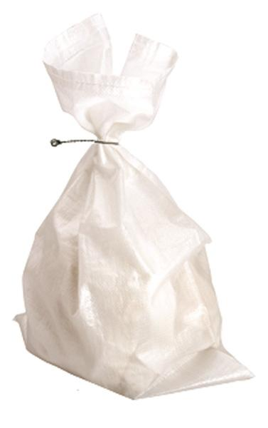 100 x 450 mm x 600 mm White Woven Polypropylene Sacks - in stock