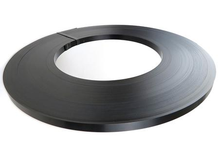 16mm Black Ribbon Wound Steel Strapping 332m. 720kg Break Strain - in stock Strapping Reels & Rolls