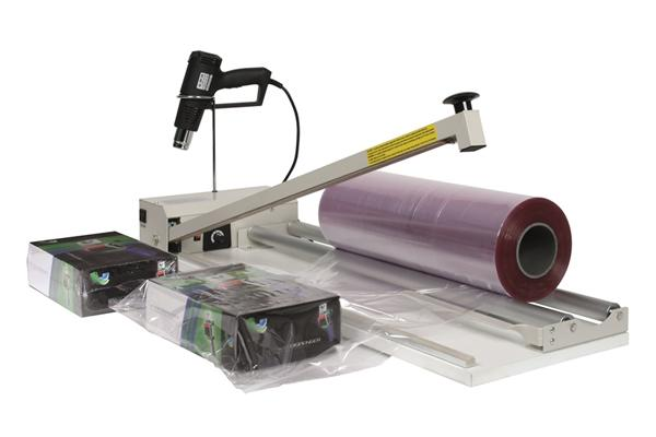 Table Top Shrink Wrap System With 300mm seal bar & Hot Air Shrink Gun