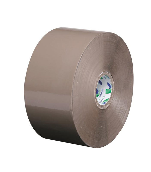 36 x Umax Standard Acrylic Buff Packaging Tape 50mm x 200m Long Rolls - in stock Extra Long Packaging Tape Rolls