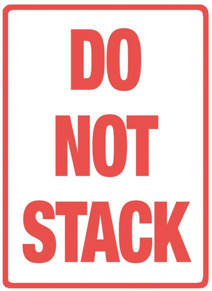 500 x Do Not Stack Printed Warning Labels 108 mm x 79 mm