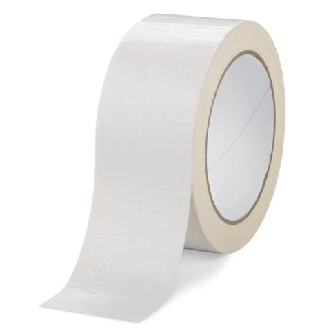 75mm x 50m White Cloth Gaffer Tape (4 Pack)