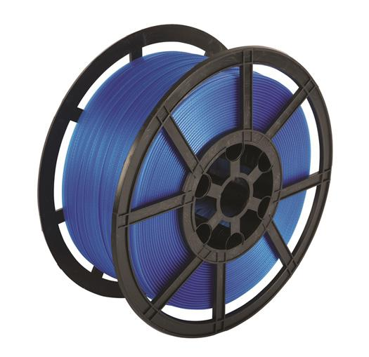 1200m x 12 mm Blue Polypropylene Pallet Strapping And Banding Tape 270 Kg Breaking Strain - in stock Strapping Reels & Rolls