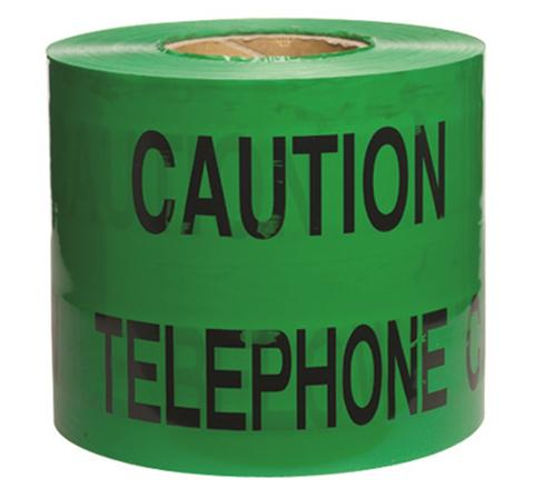 Underground Services Buried Tape 'Caution Telephone Cable'  (2 Pack)