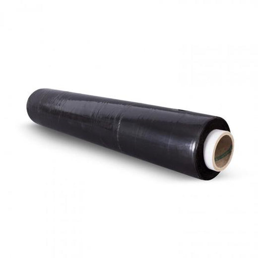 6 x 400mm x 300m 17 Micron Black Pallet Stretch Wrap Film - Extended Core - in stock Pallet Stretch & Shrink Wrapping