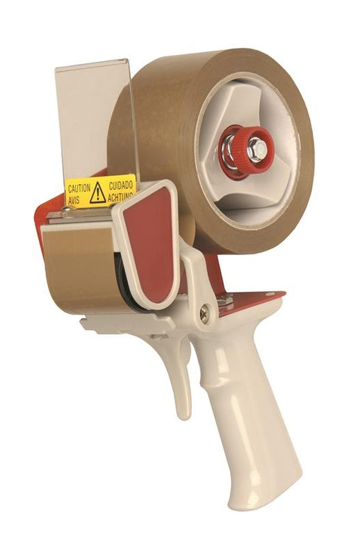 Trigger operated packaging tape dispenser