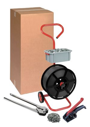 Heavy Duty 12mm Polypropylene Pallet Strapping Kit With Mobile Dispenser