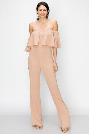 OFF SHOULDER LAYER JUMPSUIT