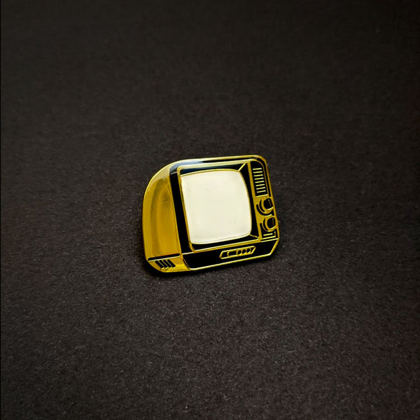 Black & Gold TV Pin