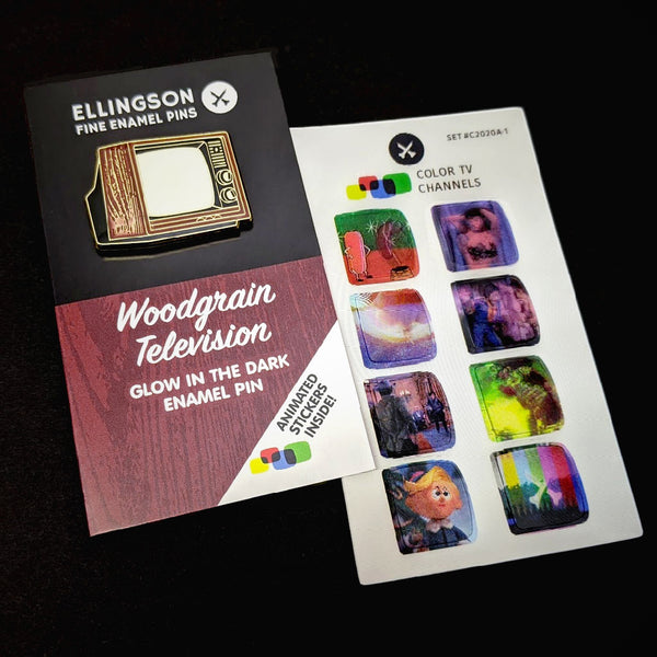Woodgrain with Animated Sticker Set