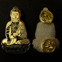 Shakyamuni Buddha Black/Gold Hard Enamel Pin