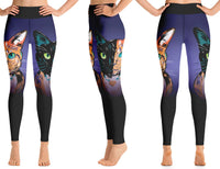 """Chimera Cat"" Yoga Leggings"