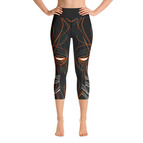 """Cthulhu Waits"" Yoga Capri Leggings"