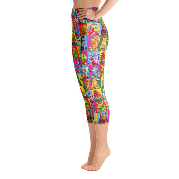 """Drinking Kaijus"" Yoga Capri Leggings"