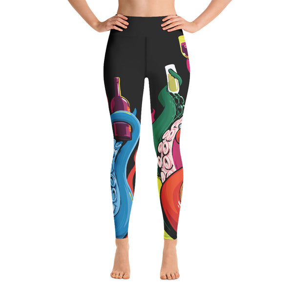 """Drinking Tentacles"" Yoga Leggings"