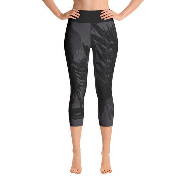 """Kaiju Ink"" DARK MODE Yoga Capri Leggings"
