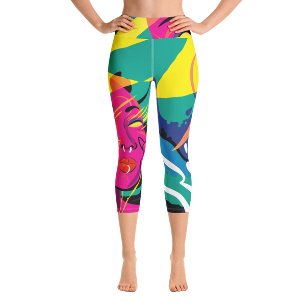 """Hardcore Jollies"" Yoga Capri Leggings"