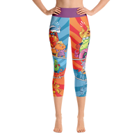 """Snack Fighter II"" Yoga Capri Leggings"