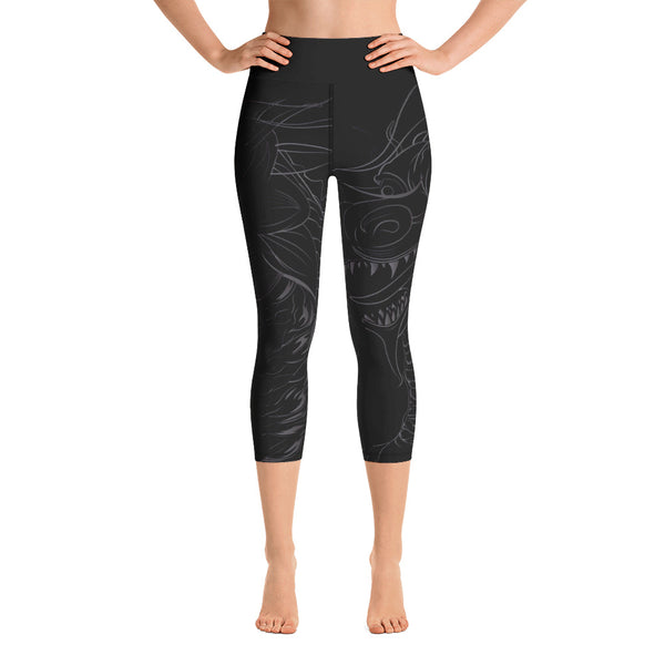 """GOJIRA"" DARK MODE Yoga Capri Leggings"