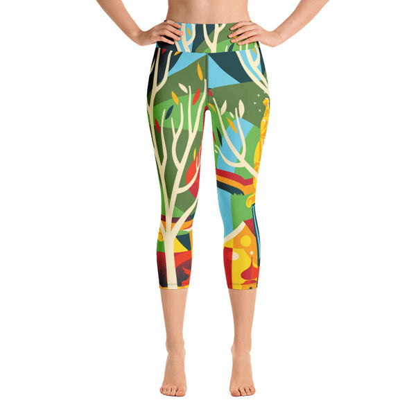 """ANGER"" Yoga Capri Leggings"