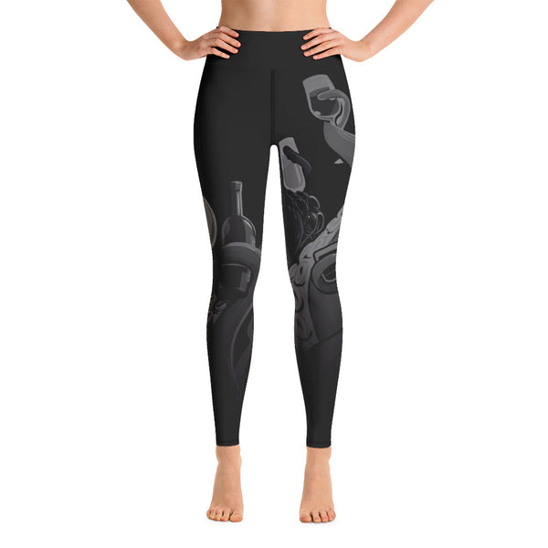 """Drinking Tentacles"" DARK MODE Yoga Leggings"