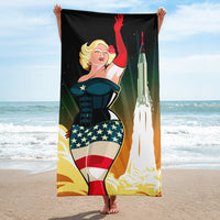 """Dirty Martini and the Birth of the Space Program"" Towel"