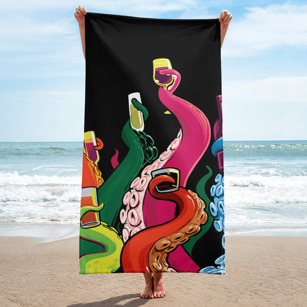 """Drinking Tentacles"" Towel"