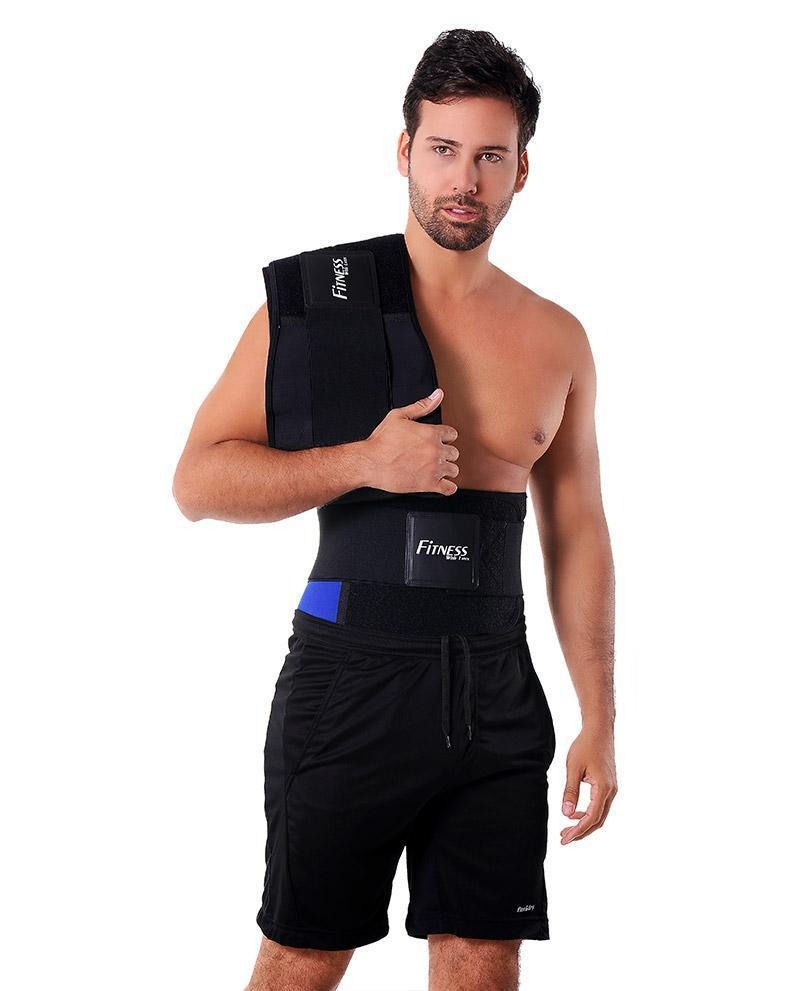 c1c328e9ec ANN MICHELL 4026 LATEX FITNESS WAIST TRAINER BELT FOR MEN BLUE ...