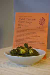 Saag (Spinach) Paneer/Tofu Curry spice packet