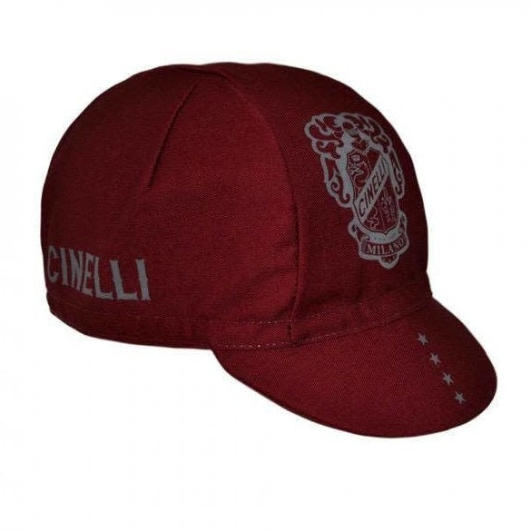Crest Burgundy Cycling Cap