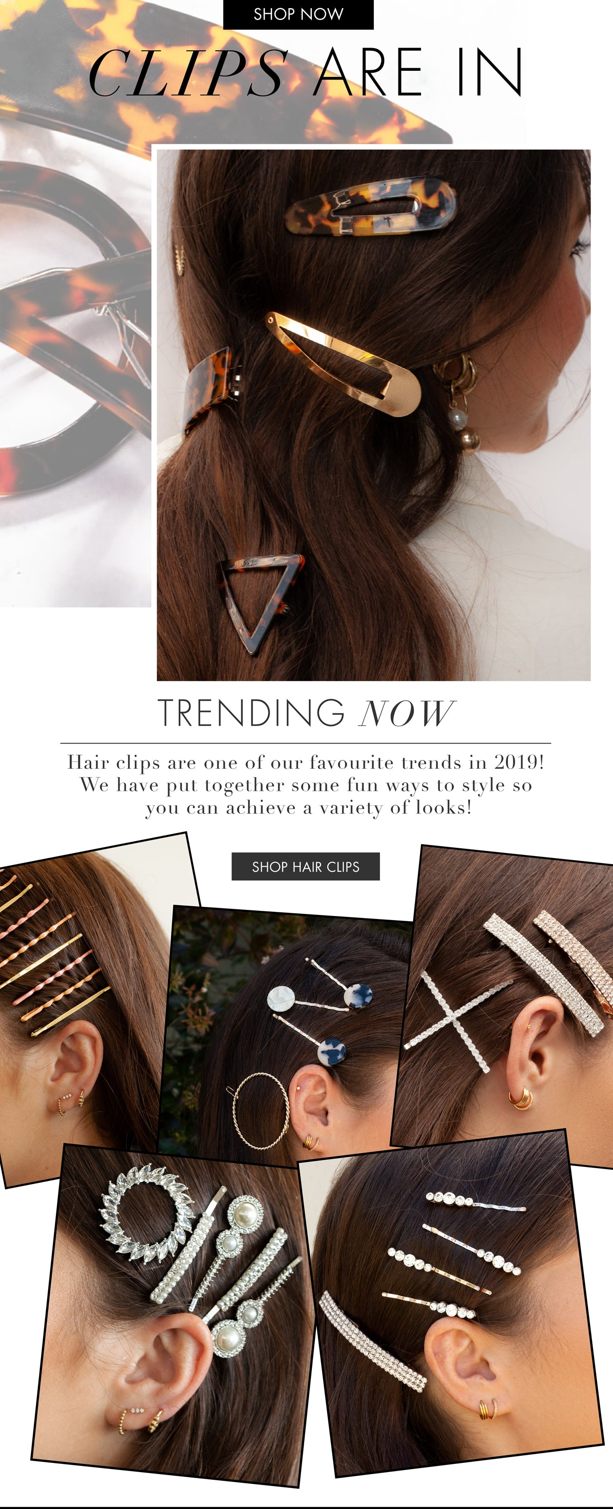 CLIPS ARE IN | Lovisa Hair Accessories | Hair Clips
