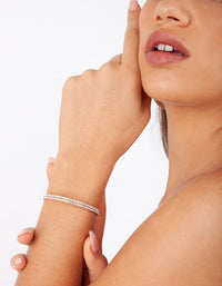 Rose Gold Double Diamante Bangle - link has visual effect only
