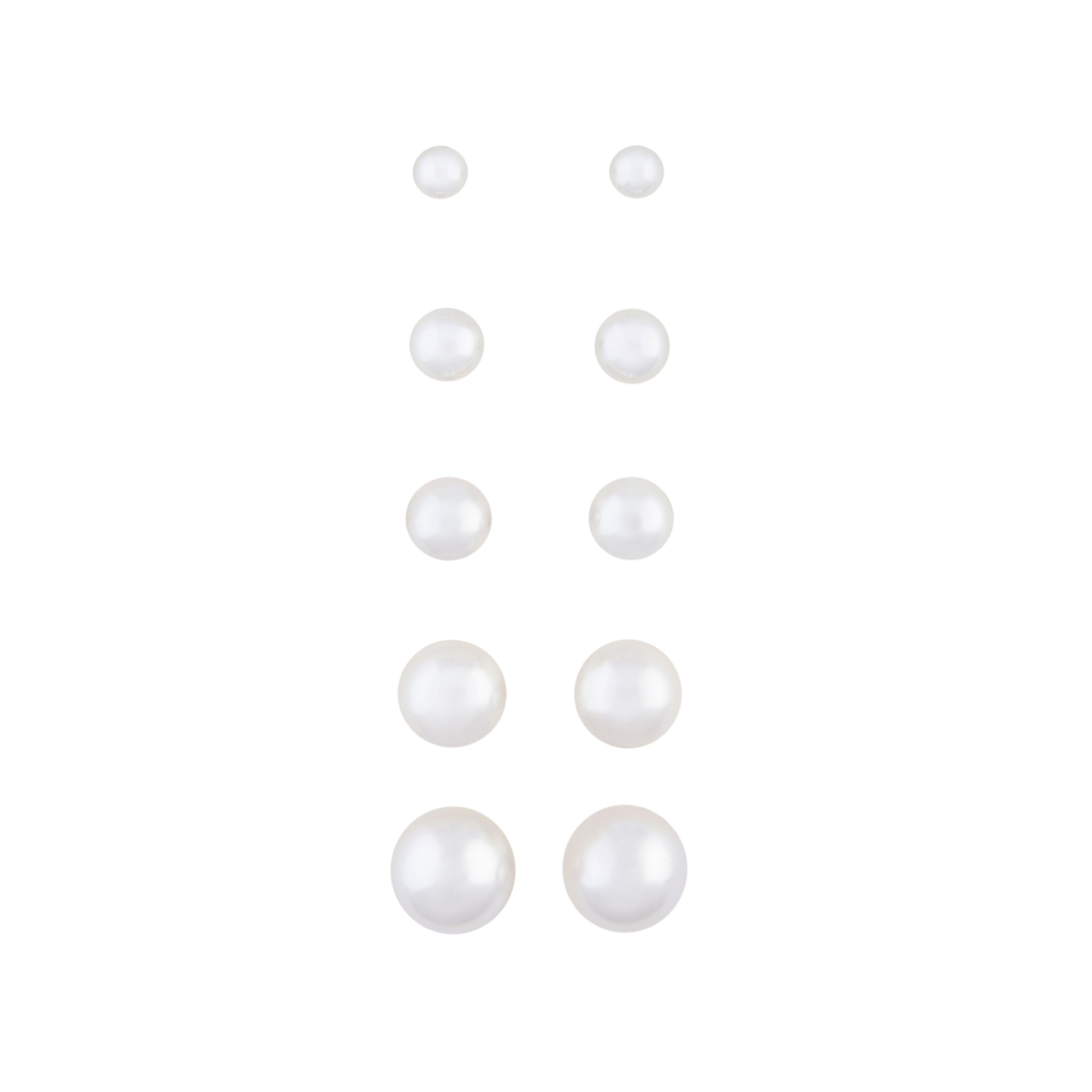 Graduating Pearl 5 Pack Clip On Earring