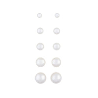 Graduating Pearl 5 Pack Clip On Earring - link has visual effect only