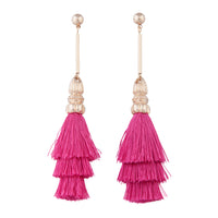 Fuchsia Rah Rah Tassel Drop Earring - link has visual effect only