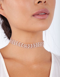 Rose Gold Diamante Petal Choker - link has visual effect only