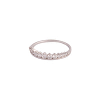 Sterling Silver Diamante Crown Ring