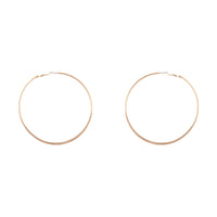 Gold Flat Edge Hoop 9cm Earring Pack - link has visual effect only