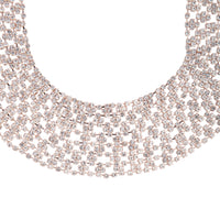 Rose Gold Diamante Collar Necklace - link has visual effect only