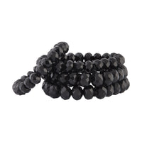 Black Faceted Bead Stretch Bracelet 4 Pack - link has visual effect only