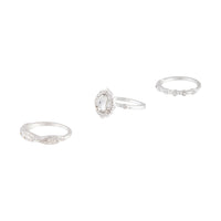Silver Diamante Engagement Ring Stack Pack - link has visual effect only