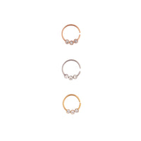 Mixed Metal Diamante Cartilage Mini Hoop - link has visual effect only