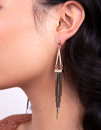 Black Gold Chain Earring - link has visual effect only
